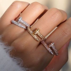 Jewelry - New Style✨ Crystal Silver Nail Ring 💎